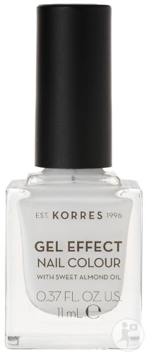 Korres KM Gel Effect Nail Colour 01 Blanc White 11ml