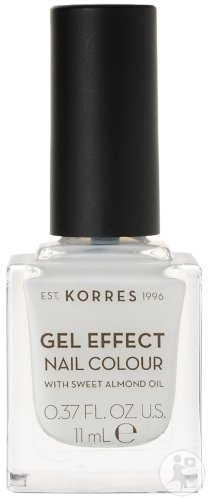 Korres KM Gel Effect Nail Colour 02 Porcelain White 11ml
