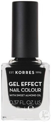 Korres KM Gel Effect Nail Colour 100 Black 11ml