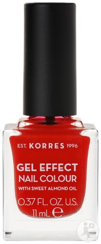 Korres KM Gel Effect Nail Colour 48 Coral Red 11ml