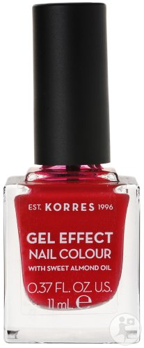 Korres KM Gel Effect Nail Colour 51 Rosy Red 11ml