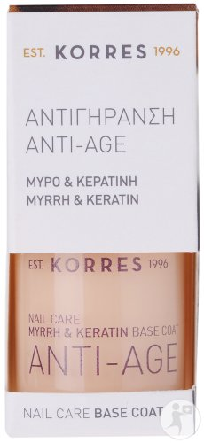 Korres KM Myrrh & Keratin Nail Care Base Coat Anti-Age 10ml
