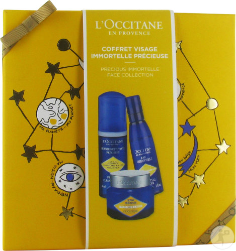 L'Occitane Koffertje Gezicht Kostbare Immortelle Schuim 30ml + Essentiële Water 30ml + Crème 8ml
