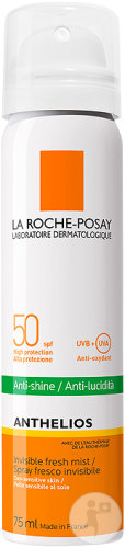 La Roche-Posay Anthélios Anti-Shine SPF50 Zonnespray Gelaatsnevel Dry Touch 75ml