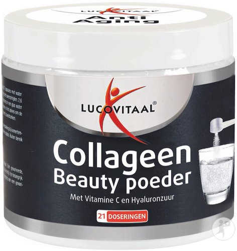 Lucovitaal Collageen Beauty Poeder Met Vitamine C En Hyaluronzuur Pot 54,6g