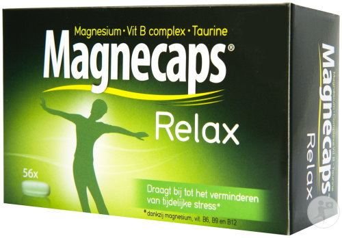 Magnecaps Relax Magnesium 170mg-Vit B Complexe-Taurine 56 Tabletten