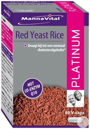 MannaVital Red Yeast Rice Platinum 60 Vegetarische Tabletten
