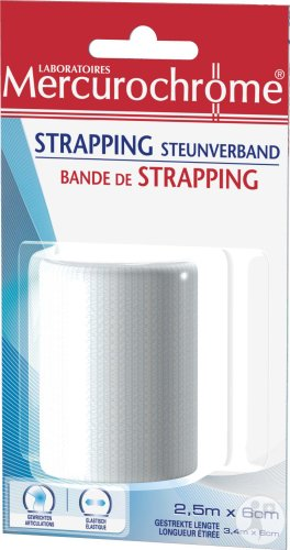 Mercurochrome Strapping Steunverband 1 Stuk