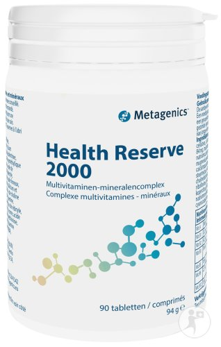 Metagenics Health Reserve 2000 Pot 90 Tabletten Nieuwe Formule (16385)