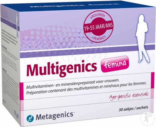 Metagenics Multigenics Femina 30 Zakjes