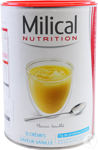 Milical Nutrition Hyperprotéiné Vanillecreme Pot 12 Porties