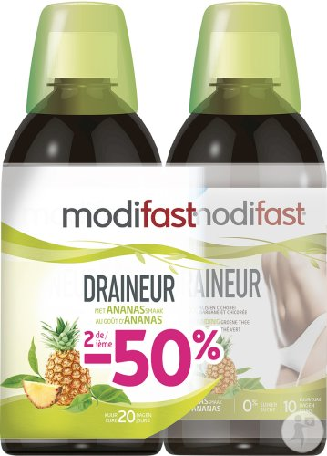 Modifast Draineur Ananas 2x500ml Promo Pack