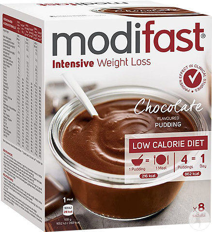 Modifast Intensive Weight Loss Chocolate Flavoured Pudding 8x55g