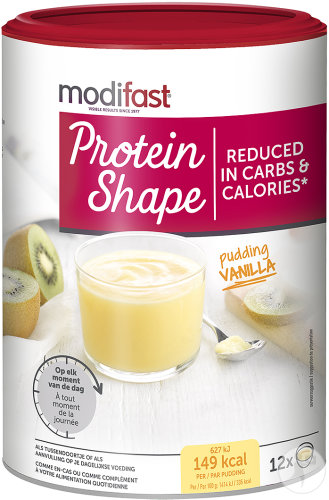 Modifast Protein Shape Pudding Saveur Vanille Potje 540g
