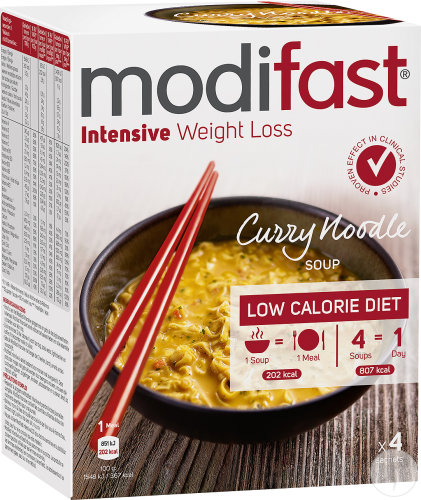 Modifast Weight Loss Nudelsuppe Currygeschmack Beutel 4x55g