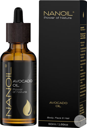 Nanoil Power Of Nature Avocado Olie Lichaam Gezicht En Haar Druppelfles 50ml