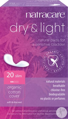Natracare Dry & Light Maandverbanden Incontinentie Slim 20 Stuks