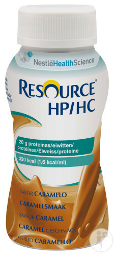 Nestlé Resource HP/HC Karamel Flesjes 4x200ml