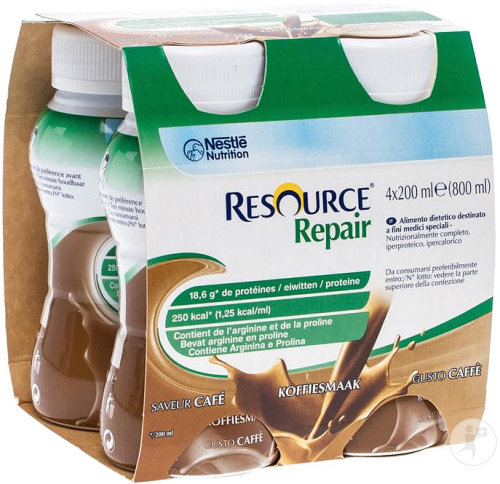 Nestlé Resource Repair Koffie Flesjes 4x200ml