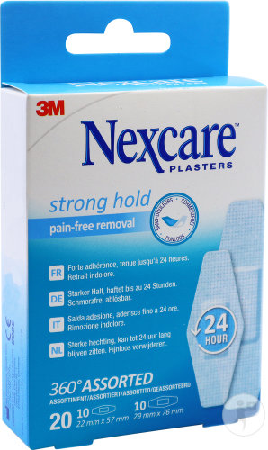 Nexcare 3m Strong Hold Assortiment 20