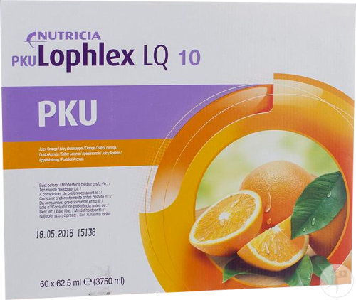 Nutricia PKU Lophlex LQ 10 Juicy Sinaasappel 60x62,5ml