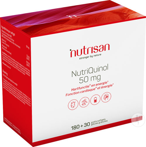 Nutrisan NutriQuinol 50mg Softgels 180 + 30 Softgels Gratis