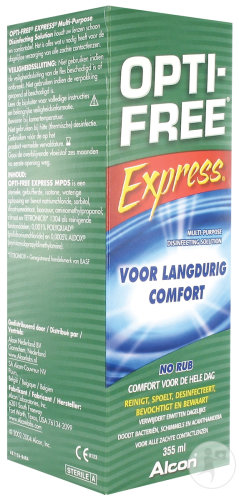Opti-Free Express Langdurig Comfort Solution 355ml
