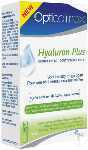 Opticalmax Hyaluron Plus Duopack 2x10ml