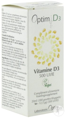 Optim D3 Vitamine D3 500IE Plantaardig Fles 20ml