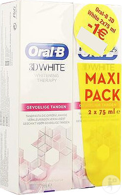 Oral-b 3d White Sensitive 2x75ml Promo -1