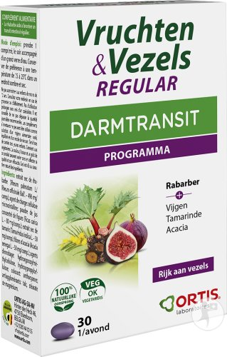 Ortis Vruchten & Vezels Regular Darmtransit 30 Tabletten