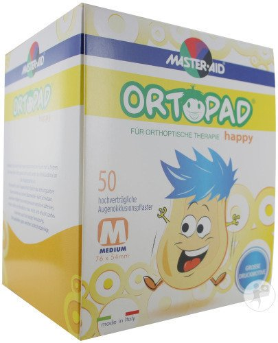 Ortopad Happy Medium Oogpleister 50