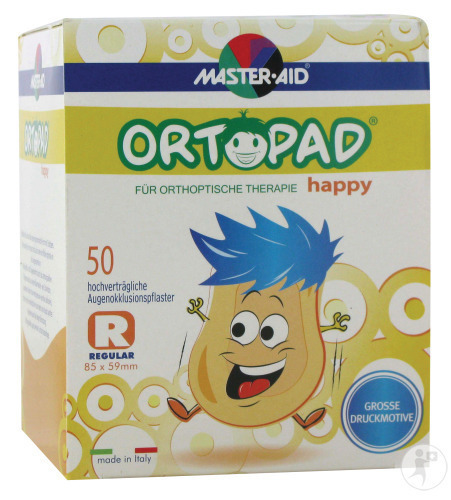 Ortopad Happy Regular Oogpleister 50 (70134)
