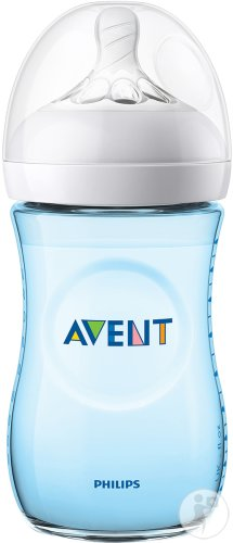 Philips Avent Natural Zuigfles 260ml Blauw - SCF035/17 (1m+) - 1x