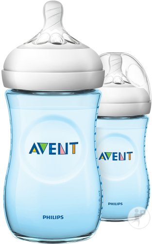 Philips Avent Natural Zuigfles 260ml Blauw DUO - SCF035/27 (1m+) - 2x