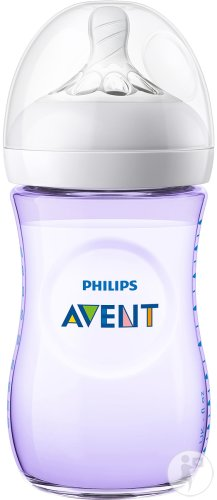 Philips Avent Natural Zuigfles 260ml Paars - SCF033/14 (1m+) - 1x