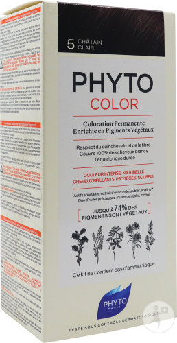 Phyto Phytocolor Permanente Kleuring 5 Lichtbruin 1 Kit
