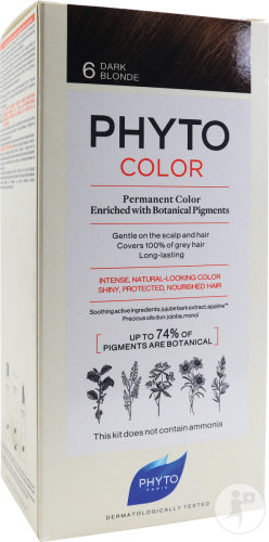 Phyto Phytocolor Permanente Kleuring 6 Donkerblond 1 Kit