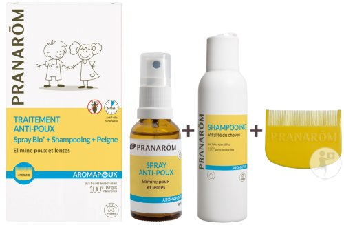 Pranarôm Aromapoux Duo Anti-Luizen Behandeling Bio 1 Kit