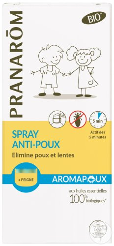 Pranarôm Aromapoux Spray Anti-Luizen Bio 30ml + Kam Cadeau