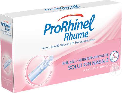 ProRhinel Rhume Solution Nasale 20 Ampoules