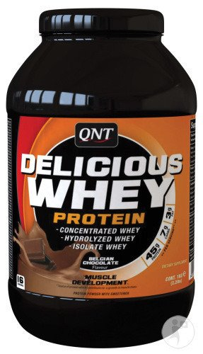 QNT Delicious Whey Protein Poeder Chocolade Pot 1kg