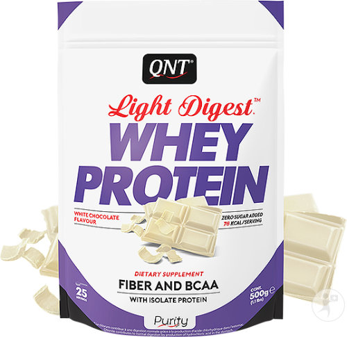 QNT Purity Light Digest Whey Protein Witte Chocolade 500g
