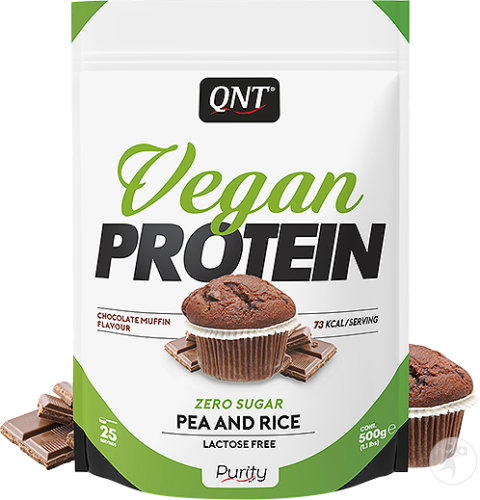 QNT Purity Vegan Protein Chocolade Muffinsmaack 500g
