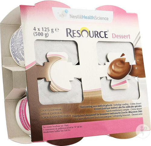 Resource Dessert Compl. Chocolade 4x125g 12326217