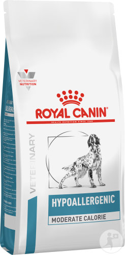 Royal Canin Veterinary Diet Hypoallergenic Moderate Calorie Canine 1,5kg