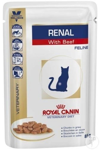Royal Canin Veterinary Diet Renal Feline Beef Sachet 85g