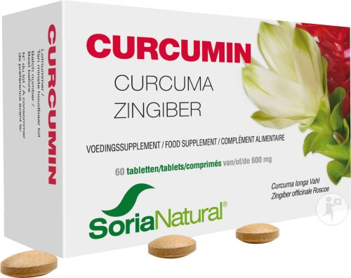 Soria Natural Curcumin Tabletten 60x600mg (6299)