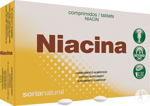 Soria Natural Niacina Retard Vitamine B3 Tabletten 48