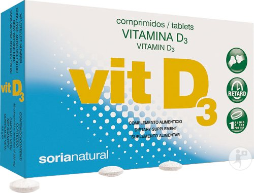 Soria Natural Vitamine D3 Retard 48 Tabletten